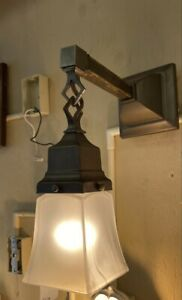 ONE 1910 Mission style double wall SCONCE LIGHTS Wall fixture