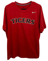 Nike Dri-Fit Mens Large Red MLB Detroit Tigers Short Sleeve Graphic Tee Shirt