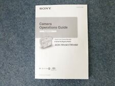 SONY CAMERA OPERATIONS GUIDE FOR DCR-TRV361/TRV460