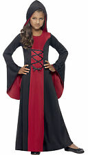 Hooded Vamp Robe Costume - Dress Girls Vampire Fancy Halloween Kids Outfit