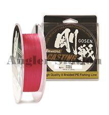Gosen W8 Casting 8 Braid (Ply) #3.0/45lb/150m Braided Fishing Line (Red)