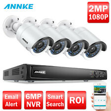 ANNKE 4CH 6MP POE NVR IP Network 1080P 2MP IR Outdoor Security Camera System APP