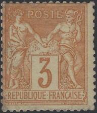 """FRANCE STAMP TIMBRE N° 86 """" SAGE 3c BISTRE SUR JAUNE """" NEUF A VOIR  K053"""