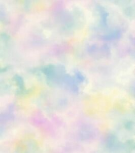 Vliestapete Kinder Rasch Wolkenhimmel rosa gelb Glitzer 818024 2,99€//1qm