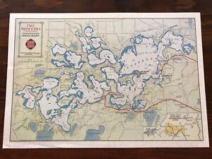 1907 Twin Cities Rapid Transit Lake Minnetonka Electric Line Map