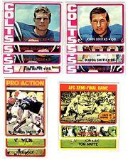 1972 Topps BALTIMORE COLTS team set--T.Hendricks RC, J.Unitas!!