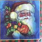 XMAS NAPKINS / SERVIETTES PAPER PACK OF 20 XMAS SANTA DESIGN 3PLY