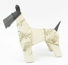 Abstract Origami Dog Figurine, Terrier - Schnauzer