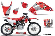 Honda CRF 150/230F Graphic Kit AMR Racing Decal Sticker Part 03-07 TBOMBER RED