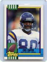 Cris Carter Rookie Card 1990 Topps #19T Minnesota Vikings