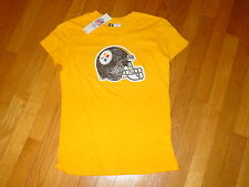 TEAM NFL Pittsburgh STEELERS Football  Women JUNIOR T-Shirt NEW  sz... MEDIUM