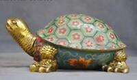 China bronze Cloisonne Feng shui Auspicious Wealth Animal Tortoise Turtle Statue