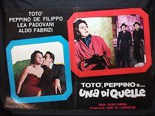 FOTOBUSTA CINEMA - TOTÒ, PEPPINO E UNA DI QUELLE - TOTÒ - 1953 - DRAMMATICO -03