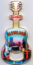 Hard Rock Cafe CLEVELAND 2010 Guitar MAGNET Bottle Opener V8