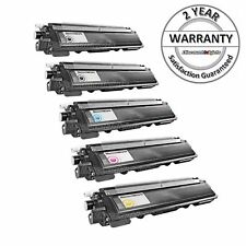 5PK Black & Color Toner Cartridge Set for Brother TN-210 HL-3075CW MFC-9320CW