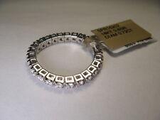 Gorgeous Estate 18K White Gold Diamond Eternity Mesh Wedding Band Ring