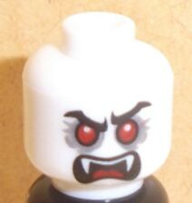 Lego Dracula Vampire Head x 1 White Dual Sided for Minifigure