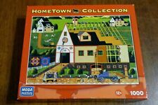 HOMETOWN COLLECTION 1000 Piece Puzzle~MEGA Brands~Heronim NEW Amish Barn