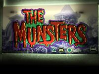 IGT Slot Machine Belly Glass THE MUNSTERS