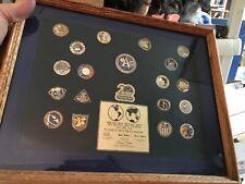 Rare ! Rare NASA APOLLO 11  1969 - 1989  20TH ANNIVERSARY FRAMED Pin Collection