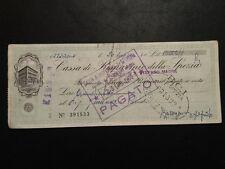 VECCHIO ASSEGNO BANCA NAZIONALE DELL'AGRICOLTURA 1960