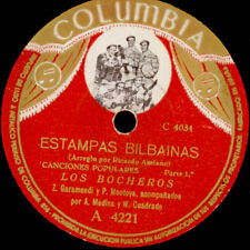 LOS BOCHEROS -SPANISH FOLK- Estampas Bilbainas    SCHELLACKPLATTE 78rpm S196