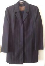 Ladies Trouser Suit - Size 12 - Atmosphere - Grey/Tan stripe - VGC