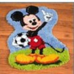 """Latch Hook Rug Kit """"Mickey Mouse"""" 52x45cm Shaped"""