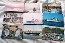 51 Postcards of BOATS & SHIPS