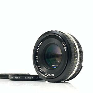 Nikon Nikkor 50mm f/1.8 AI-S Manual Focus Pancake Lens Japan - Exc- TK01T