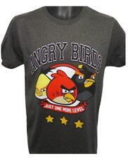 New! MENS SMALL ANGRY BIRDS FUNNY GRAY ONE MORE LEVEL CLASSIC APP LOVER SHIRT
