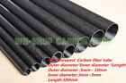 3K Carbon Fiber Roll Wrapped Tube/Pipe  5mm 6mm 7mm 8mm 9mm 10mm x 500mm -UK