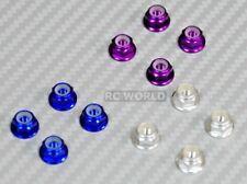 1/10 WHEEL NUT Aluminum M4 NYLON NUT CAP -8 pcs- Blue + Purple + Silver (12PCS)