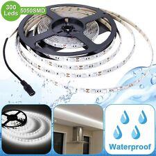 12V Flexible Waterproof 5050LED Strip Light LED Tape Daylight White Super Bright