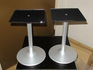 Pair Of vintage Speaker Stands aluminum new  Made in Japan