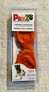 12-pack Protex Pawz Natural Rubber Waterproof Dog Boots - Orange X Sm  Free Ship