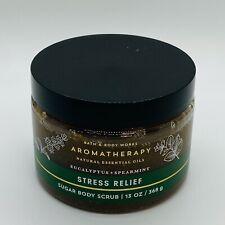 Bath & Body Works Stress Relief Eucalyptus Spearmint Sugar Body Scrub 13 oz