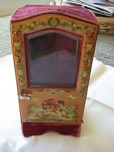 Antique French sedan chair  vitrine Signed