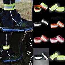 Safety Night Glowing Wristband Sport Running Reflective Arm Band Belt Strap 2Pcs