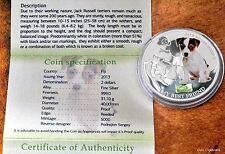 2013 - FIJI $2.00 Man's Best Friend  JACK RUSSEL Terrier silver coin 1oz proof