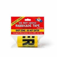 Idiot Zone Do Not Enter Police Yellow Barricade Tape 50Ft Funny Prank Decoration