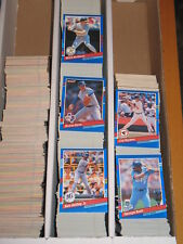1991 Donruss BASEBALL Series 1 Base & Inserts LARGE LOT APPROXIMATELY 1252 CARDS