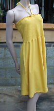 Wonderful Yellow H&M Halterneck Sleeveless Summer Dress Size S/M 8-10