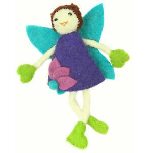 Brown Hair Doll Handmade Felt Tooth Fairy Pillow