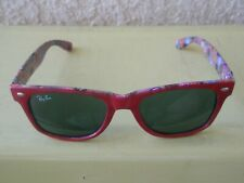 Ray-Ban RB2140 Original Wayfarer Red Special Series Buttons And Pins 50mm 22 3N