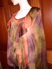 Tank and Cover Orange & Brown multi 2 piece Midnight Velvet Size 1X New