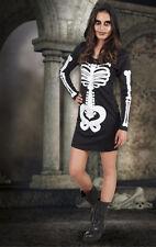 Girls Hooded Skeleton Halloween Fancy Dress Costume Age 14-16