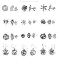 """NEW Designs .925 Sterling Silver- """"SUN & MOON, SUN """" EARRINGS"""