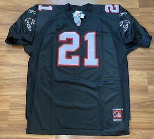 Deion Sanders Atlanta Falcons Jersey Size 58 Authentic Helmet Logo Vintage NWT