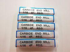 """1//16/"""" End Mill 1-1//2 Long USA Morse 58004 A11 2 Flute Carbide"""